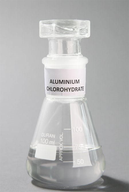 conical flask with Aluminium Chlorohydrate