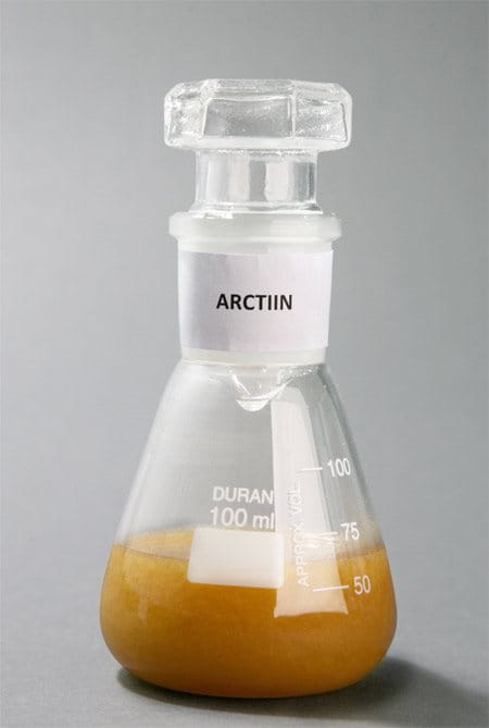 conical flask with Arctiin (Arctium Lappa)