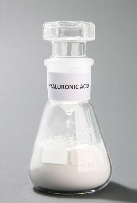 conical flask with Hyaluronic Acid