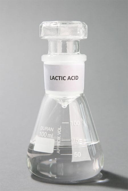 conical flask with Lactate (Lactic Acid)
