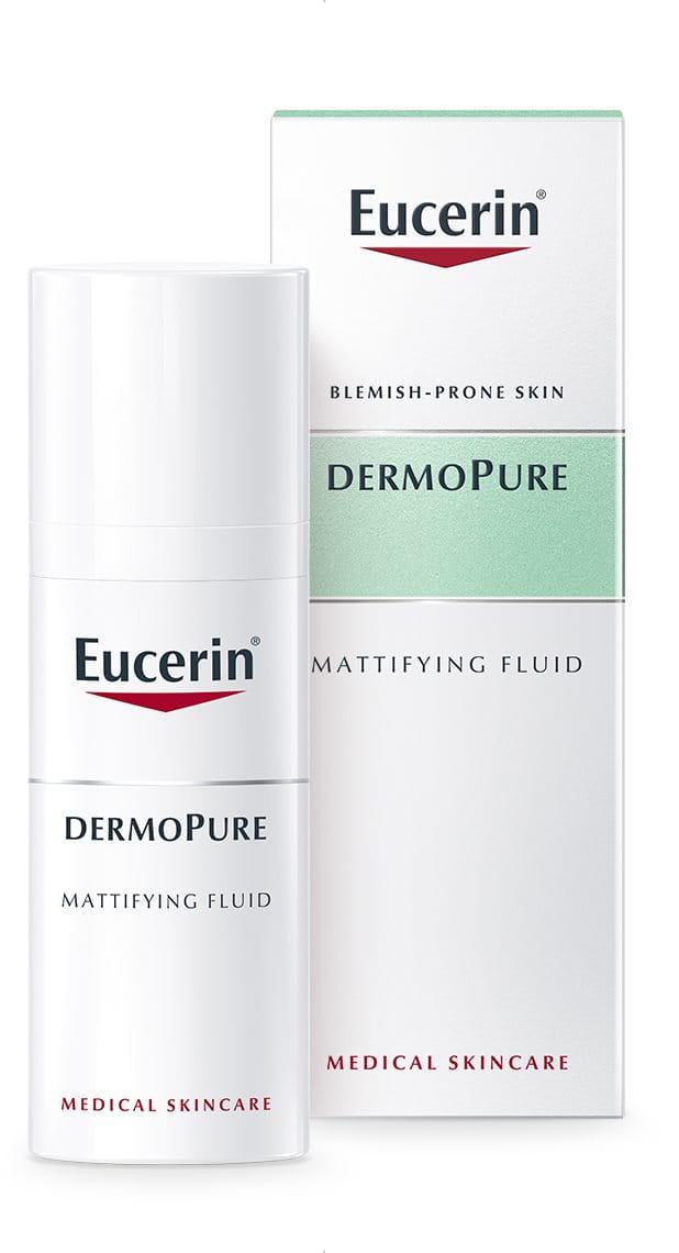 DERMOPURE Mattifying Fluid | for acne-prone skin| Eucerin