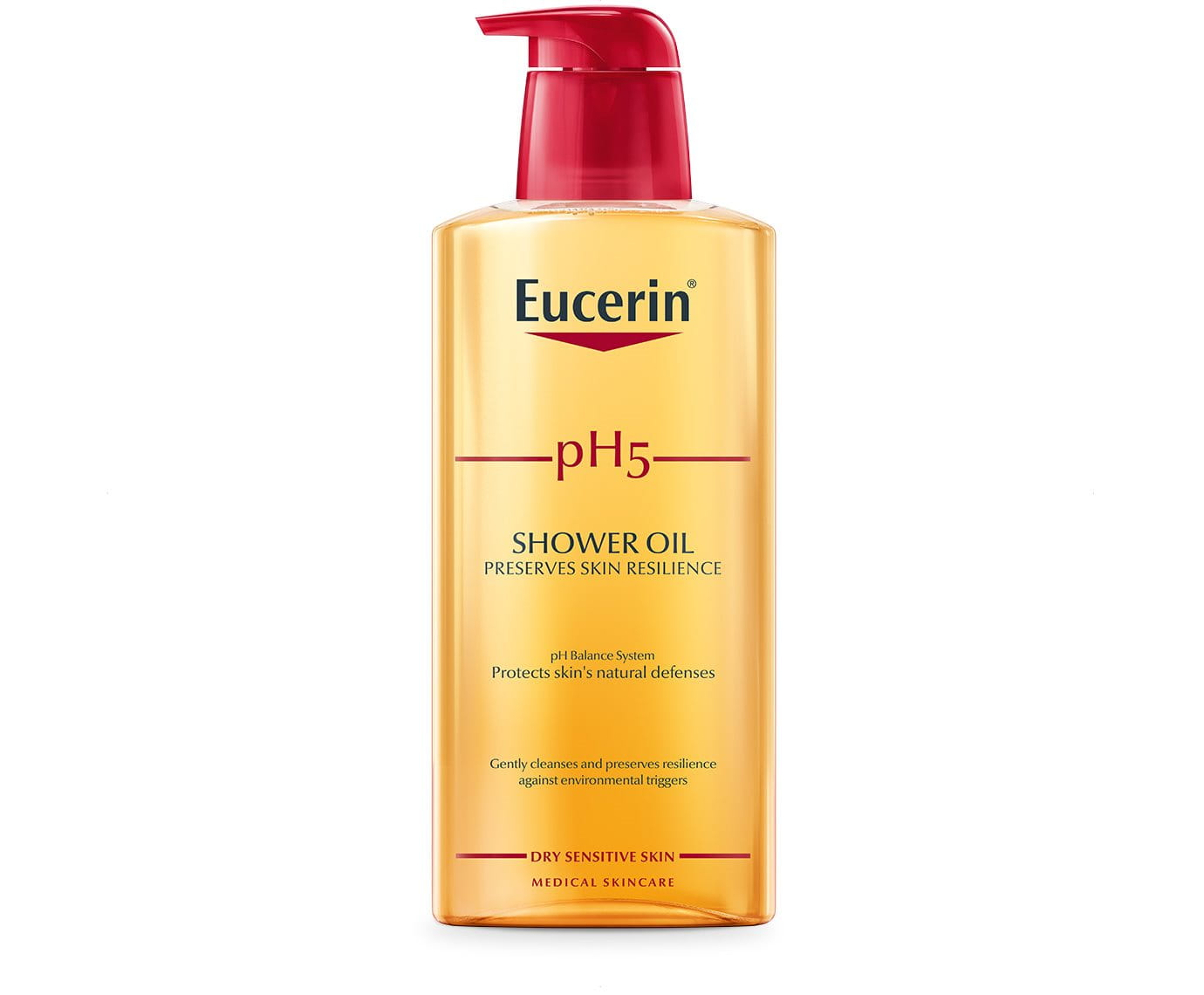 ph5 shower oil body cleanser for dry sensitive skin eucerin. Black Bedroom Furniture Sets. Home Design Ideas