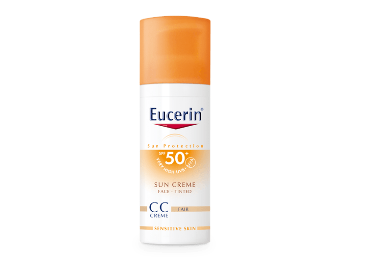 facial sun protection eucerin sun creme tinted cc fair. Black Bedroom Furniture Sets. Home Design Ideas