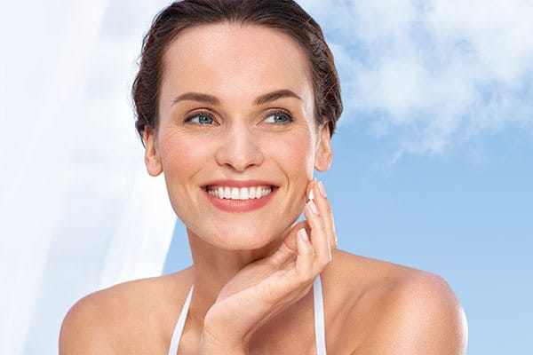 Apply Eucerin sunscreen for dry and sensitive skin
