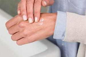 What helps with dry, cracked hands