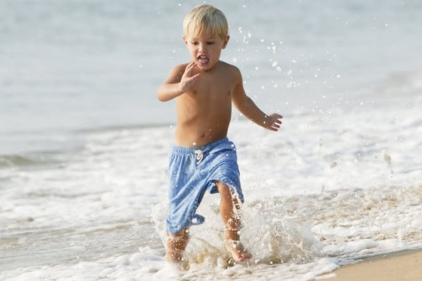 Sun protection for children should be extra water-resistant