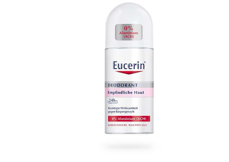 24 h aluminium free deodorant for sensitive skin roll on eucerin. Black Bedroom Furniture Sets. Home Design Ideas