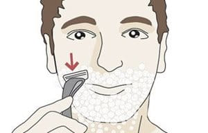 Illustration of shaving