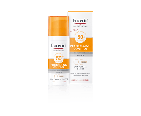 Tinted sunscreen for face