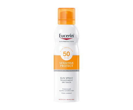 Eucerin sun spray for acne-prone skin