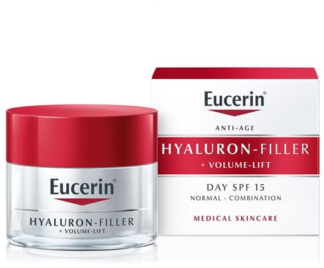 Cream texture of Eucerin Volume-Filler Day Care for normal to combination skin