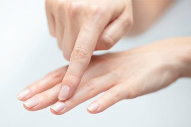 Cracked skin on hands: cuticles